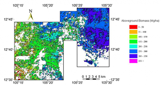 Figure: Mapping of tropical forest biomass using airborne LiDAR